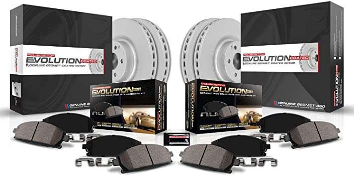 Power Stop CRK5367 front and rear Z17 Evolution Geomet Coated Brake Kit