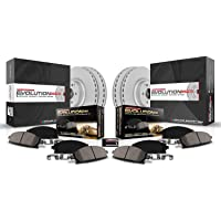 $146 » Power Stop CRK4466 Coated Brake Rotor & Ceramic Brake Pads- front & rear