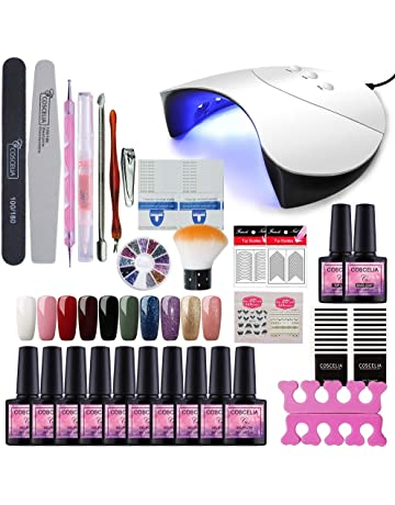 bad0bd0ea2a7 Fashion Zone 10 Colors Soak Off Gel Polish Starter Kit 36W LED UV Nail  Dryer Curing