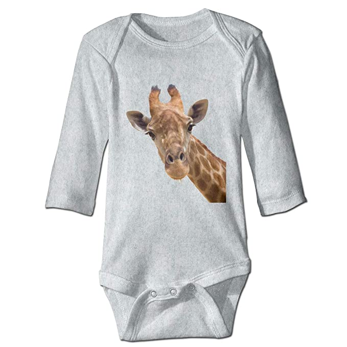 0b06175ffda LEATHERS Giraffe Baby Boy Cotton Long-Sleeve Bodysuit Climbing Clothes  Romper Jumpsuit Outfit Gray