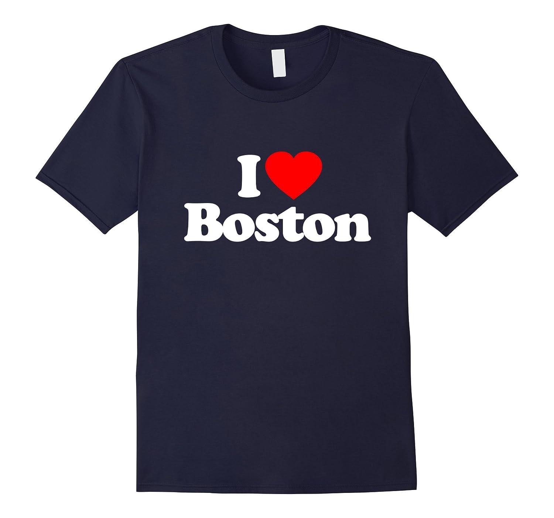 I Love Heart Boston US City Funny T-Shirt-CD