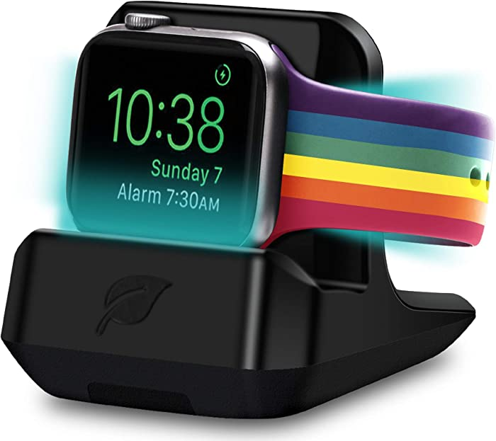 [WatchSoap] Dry Cleaner & Charger Stand, Apple Watch Stand for Apple Watch 6 SE/5/4/3/2/1, fits for Old/New Apple Watch Bands, iWatch All Wristbands (44/42/40/38mm), WatchSoap | Noir-Edition