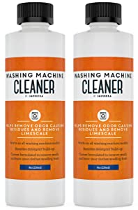 2 Pack Washing Machine Cleaner for All Washers (Top Load, Front Load, HE and Non-HE) Compatible with Maytag, Whirlpool, Kenmore Made in USA - Four Uses