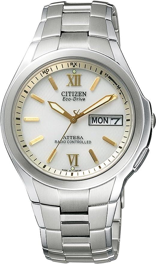 [シチズン]CITIZEN 腕時計 ATTESA アテッサ Eco-Drive エコ・ドライブ 電波時計 デイ&デイト ペアモデル ATD53-2791 メンズ