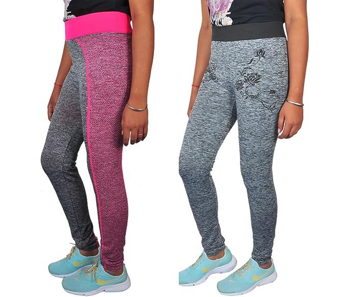 Golazo Girl's Stretchable High Waist Compression Yoga Fitness Tummy