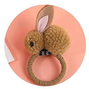 Cute Animals Style Hairclips Felt Three-Dimensional Plush Rabbit Ears Headband