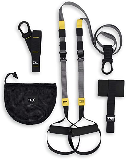 Full Body Workouts Anchors All Levels Includes Get Started Poster Lightweight /& Portable Suspension Trainer Set//System