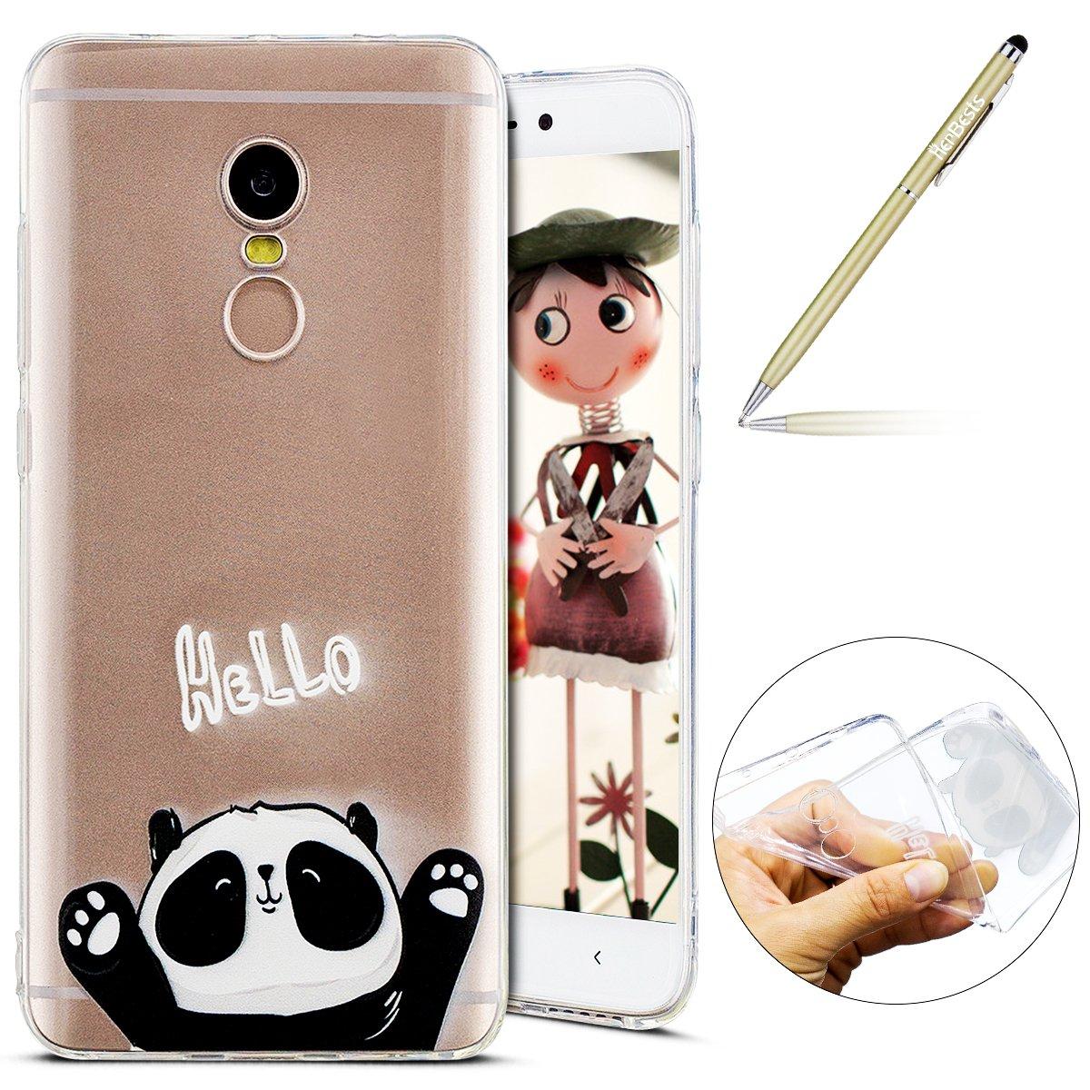 Carcasa para Xiaomi Redmi Note 4, Herbests Funda Xiaomi Redmi Note 4 Silicona Transparente Suave Carcasa con Dibujos de Colores…