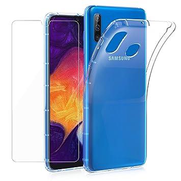 Annhao Funda para Samsung Galaxy A50 + Protectores de Pantalla, Carcasa Silicona Transparente Protector TPU Airbag Anti-Choque Ultra-Delgado ...