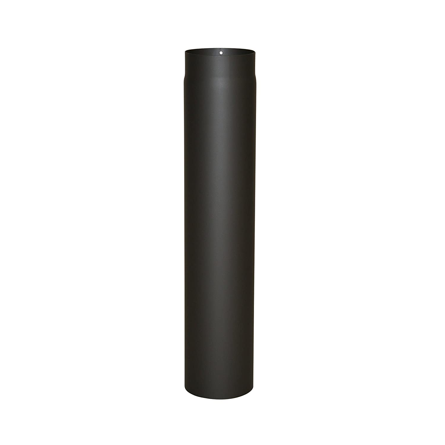 Kamino-Flam Ø 130 mm Steel Stove Pipe, Heat Resistant Senotherm Coating Flue Pipe for Stoves, approx. 750 mm Straight Length Chimney Pipe, Single Wall Pipe EN 1856-2 Standard, Black Kamino - Flam 331752