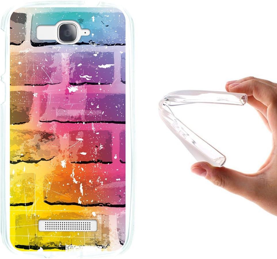 WoowCase Funda para Alcatel One Touch Pop C7, [Alcatel One Touch Pop C7 ] Silicona Gel Flexible Pared de Ladrillo, Carcasa Case TPU Silicona: Amazon.es: Electrónica