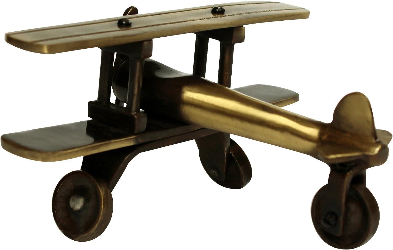 ITOS365 Brass Showpiece Decorative Antique Gift Items Aeroplane Model, Home Interior Decor Item, Table Decoration