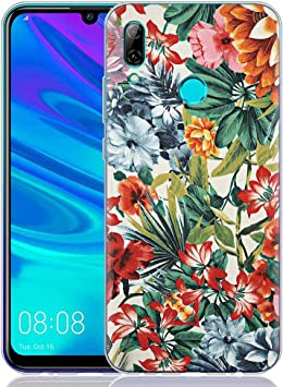 ZhuoFan Funda Huawei P Smart 2019, Cárcasa Silicona Transparente con Dibujos Diseño Suave Gel TPU Antigolpes de Protector Case Cover Fundas para Movil Huawei PSmart 6,21 Pulgadas, Flor Colorida: Amazon.es: Electrónica