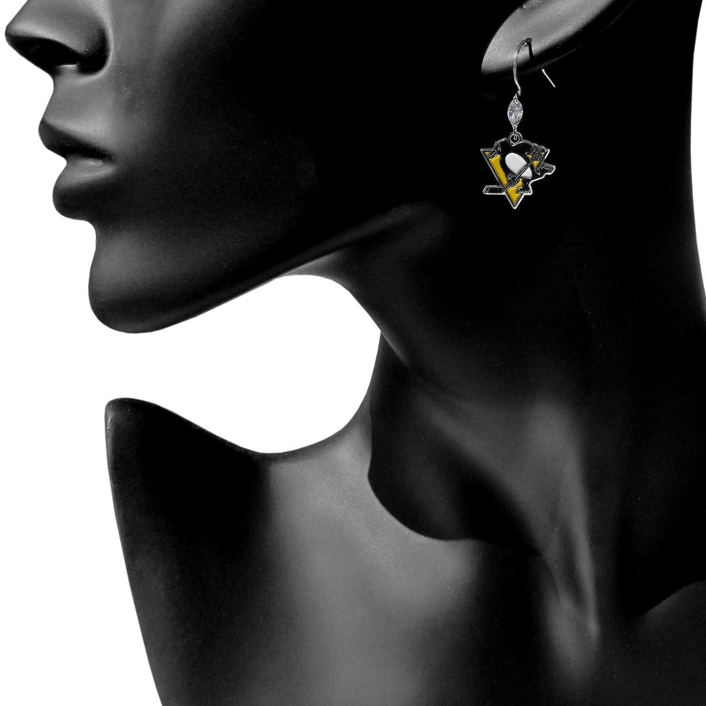 Siskiyou NHL Crystal Dangle Earrings