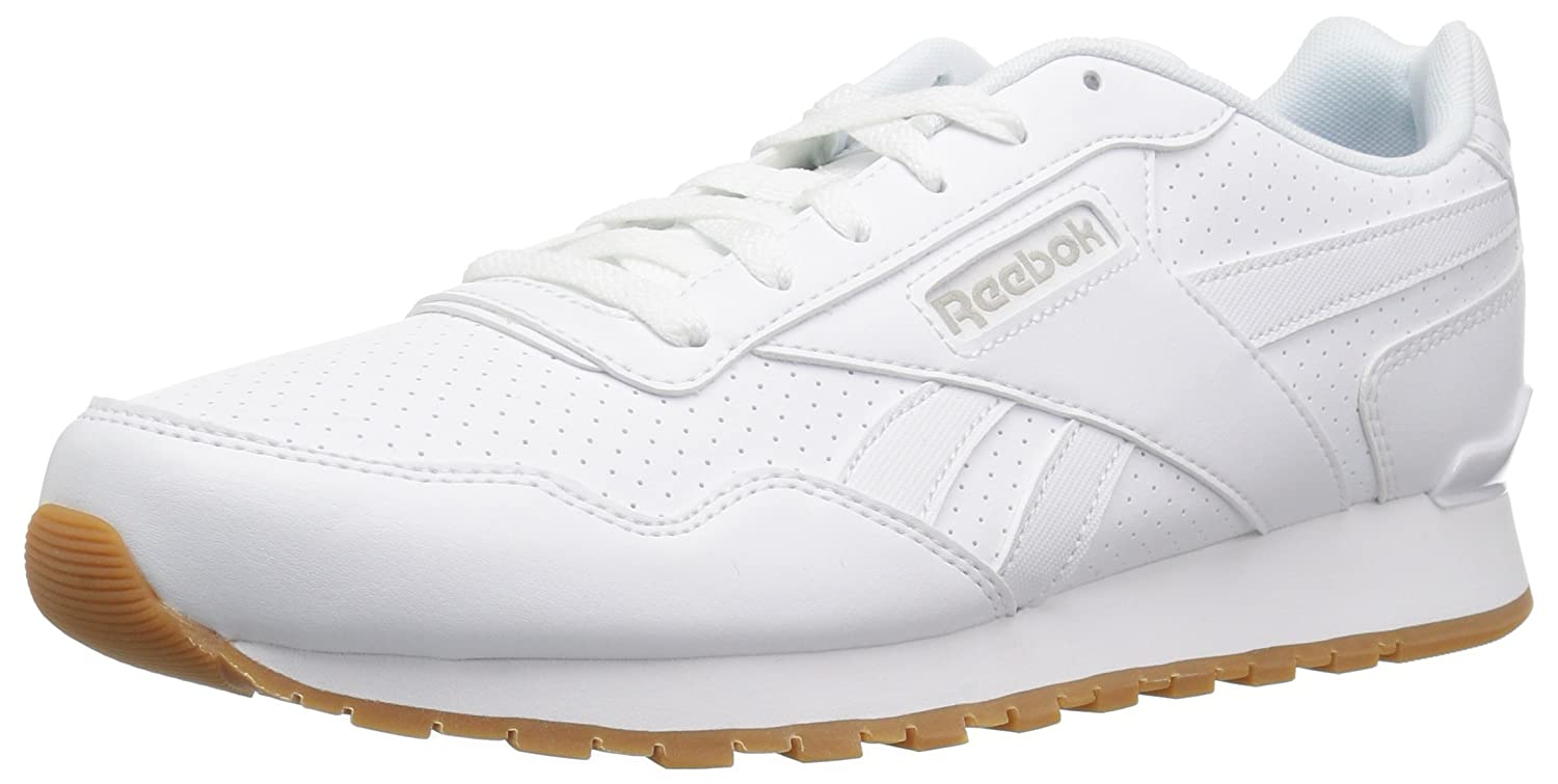 Reebok Men's Classic Harman Run Sneaker B077ZMJT1K 6.5 D(M) US|Us-white/Steel/Gum