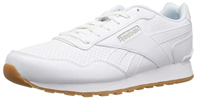 Reebok Men s Classic Harman Run Sneaker Us-White Steel Gum 3.5 D(M ... 052e4cb4f