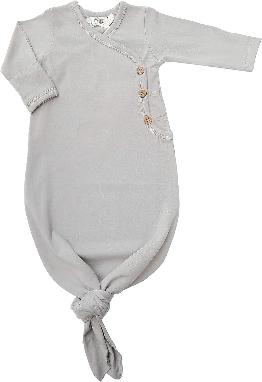 Mahogany 0-3m Lucy Lue Organics Organic Kimono Knotted Baby Gown