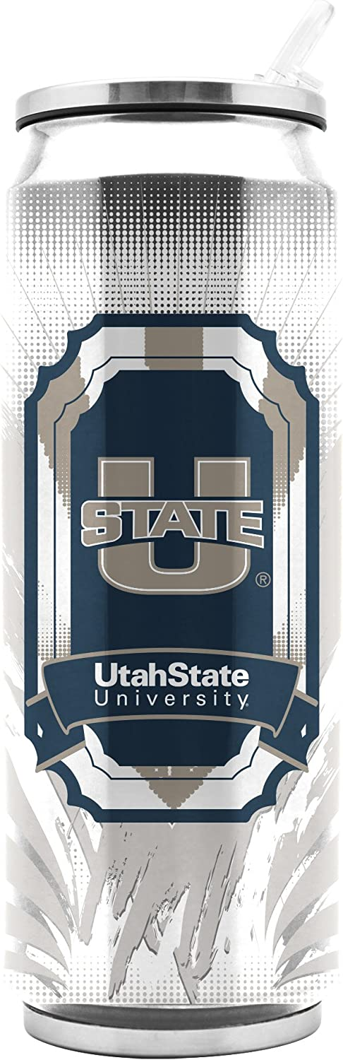 NCAA Utah State Aggies 16oz Double Wall Stainless Steel Thermocan