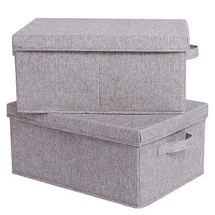 CAMEL CROWN Cajas de Almacenaje Cubos de Tela Plegables Contenedores de Almacenamiento con Tapas y Manijas