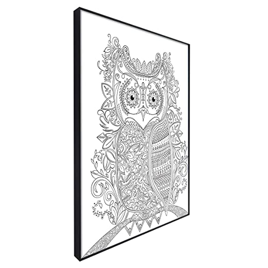 Amazon MCS 10x13 Inch Time Out Color In Frame Adult Coloring Page Owl Design 65633 Home Kitchen