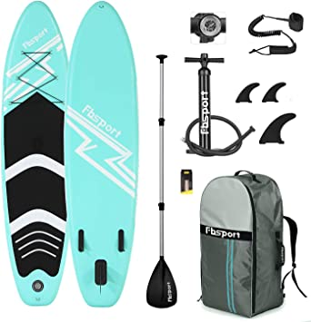 Premium Inflatable Stand Up Paddle Board (6 inches Thick) with Durable SUP Accessories & Carry Bag | Wide Stance, Surf Control, Non-Slip Deck, Leash, ...