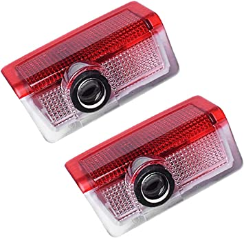 LIKECAR 2 pcs lumi/ères de porte projecteur de voiture Car LED Bienvenue Logo