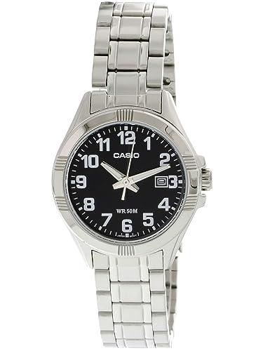1e8e6bea8c15 CASIO 19850 LTP-1308D-1B - Reloj Señora Cuarzo Brazalete metálico dial Negro   Casio  Amazon.es  Relojes
