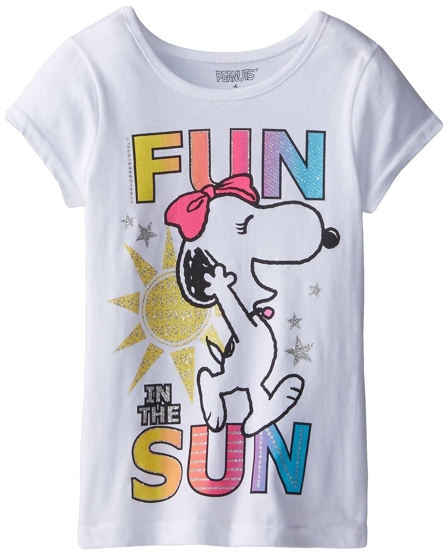 8d72102e093bb8 Amazon.com: Peanuts Girls' Short Sleeve T-Shirt: Clothing