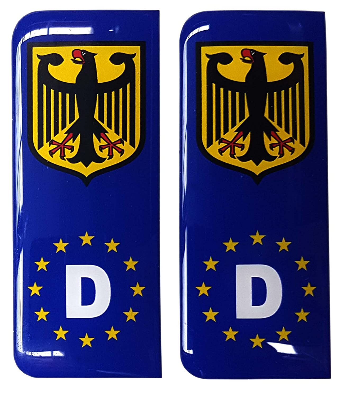 allemand plaque immatriculation bleu sticker badge deutschland armoiries de bundesadler euro ue. Black Bedroom Furniture Sets. Home Design Ideas