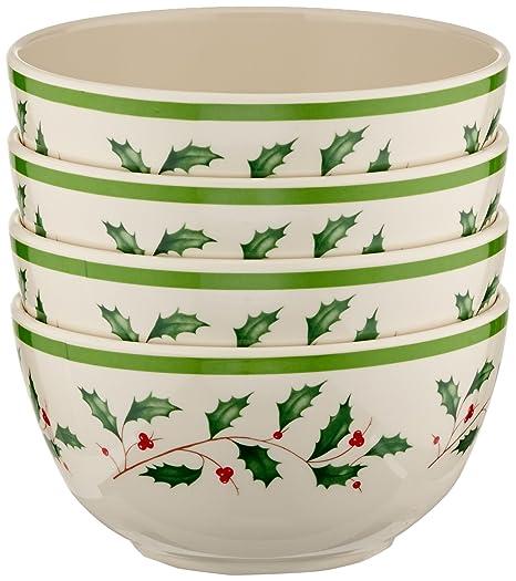 Lenox Holiday Melamine Bowls Set of 4  sc 1 st  Amazon.com & Amazon.com | Lenox Holiday Melamine Bowls Set of 4: Plates