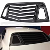 ABS Rear and Side Window Louvers in Matte Black Sun Shade/Rain/Windshield Cover for Dodge Challenger 2008-2019