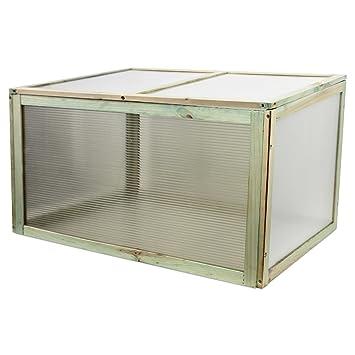 Mini serre 78 x 55 x 47 cm Bois/plastique Serre Serre: Amazon.fr: Jardin