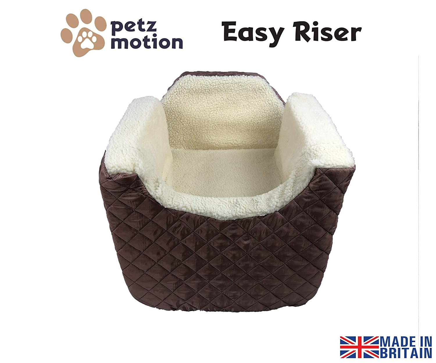 Petzmotion Easy Riser Pet//Dog Booster Safety Car Seat Small, Black