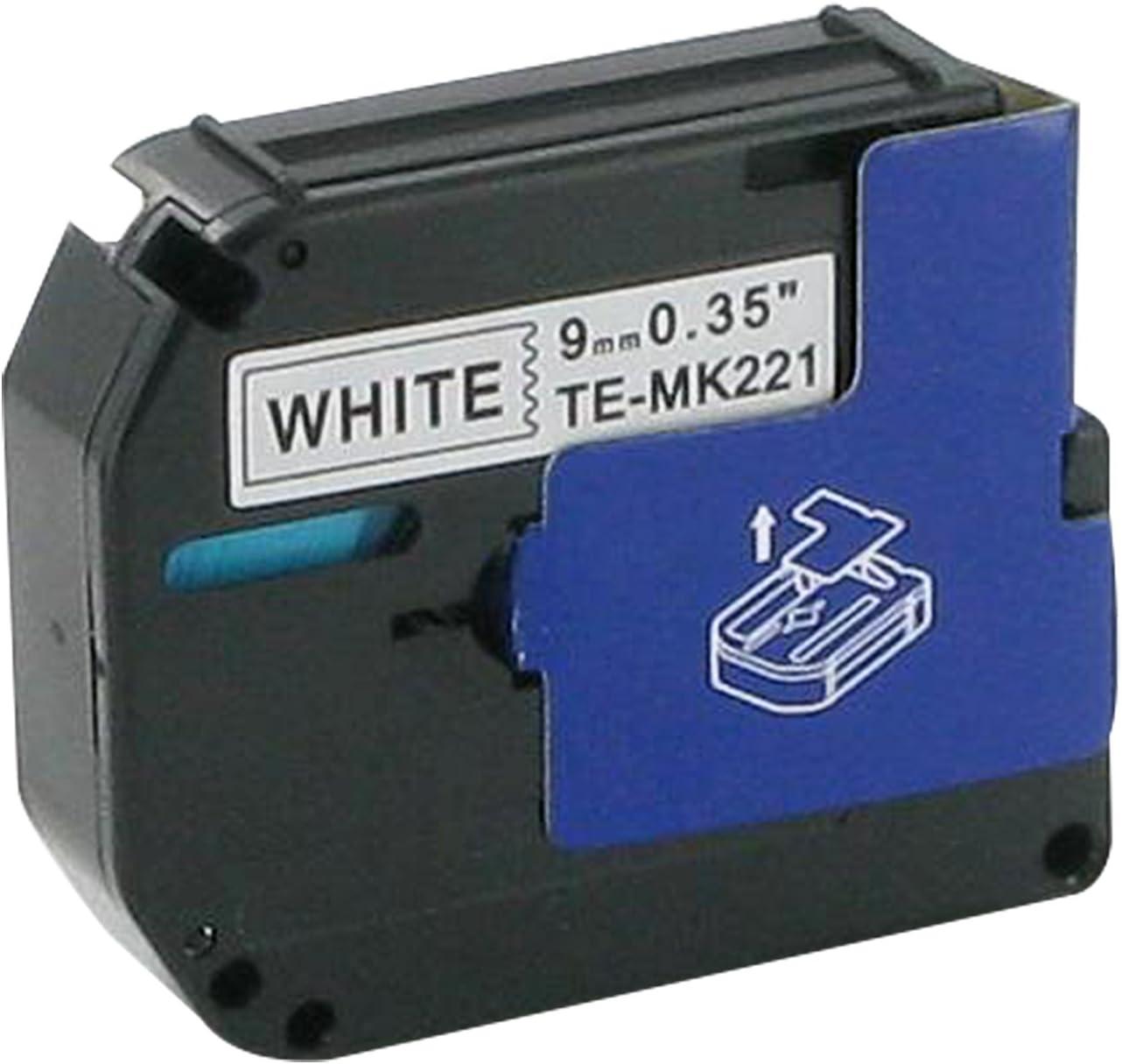 Bubprint Ruban pour /étiqueteuse compatible avec Brother M-K221 MK221 pour P-Touch 55 65 75 80 90 M95