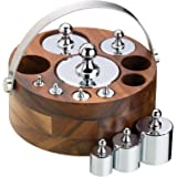 Natural Elements Ten Piece Metric Weight Set with Stand and Metal Handle, Gift Boxed