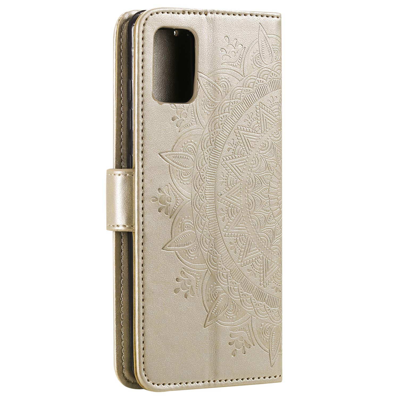 Docrax Custodia Galaxy A71 Portafoglio Cover in Pelle Funzione di Stand Slot per Schede Antiurto Leather Case Cover per Samsung Galaxy A71 DOHHA080429 Grigio