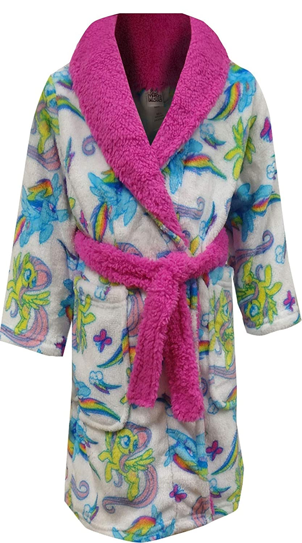 AME Sleepwear Girls My Little Pony White Plush Robe