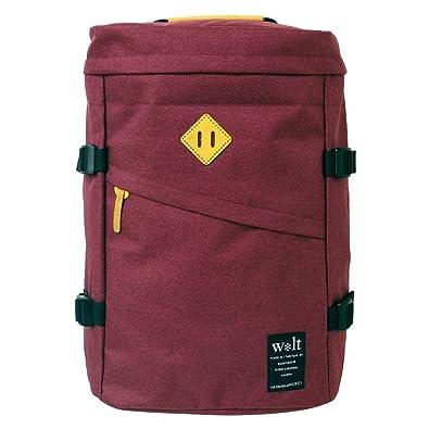 37a4a6abd46375 Amazon | (ウォルト) walt リュックサック デイパック 杢調ナイロン ボックス型リュック ワイン ワイン フリーサイズ, ワイン |  バッグ・スーツケース