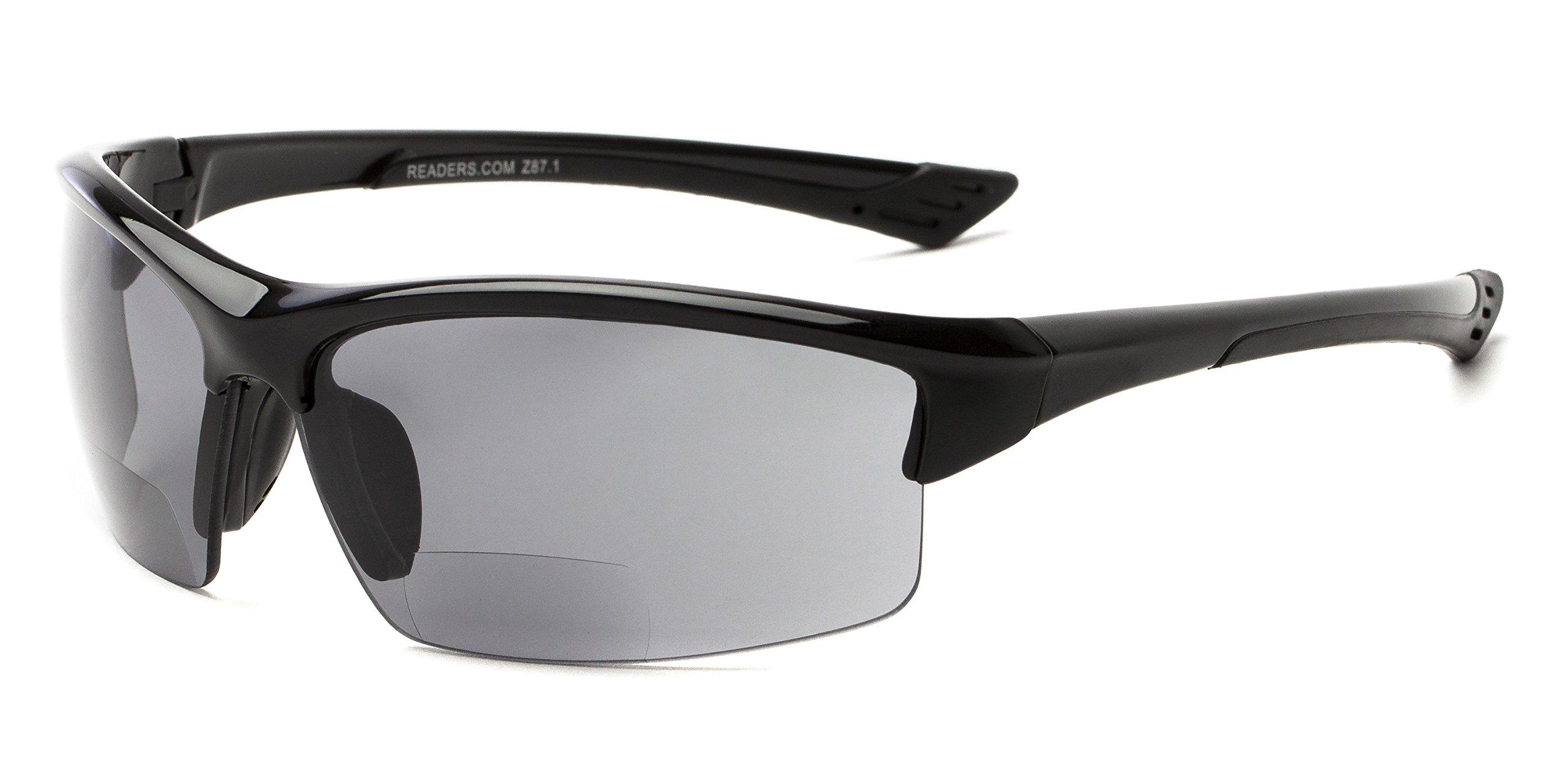 Readers.com   The Foster Bifocal Sun Reader - Sport & Wrap-Around Reading Sunglasses