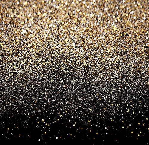 Price comparison product image Yame 5x7ft Vinyl Digital Glitter Black Gold Dots Photography Studio Backdrop Background