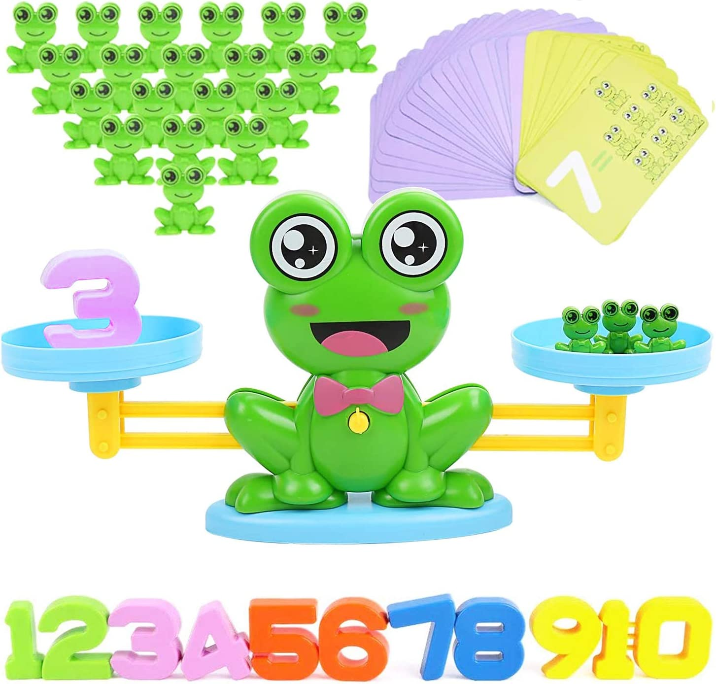 STEM Educational Learning Toy Frog/&Card/&Number Children Mathematics Toy Teaching/&Student Counting Game Gift Toy for Boys Girls MOISO Balance Math Game Toys for Kid Toddler