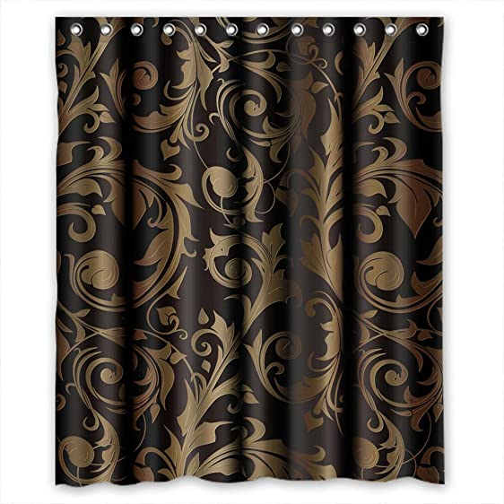 Amazon.com: Polyester Shower Curtains, Stripe, Size Width X Height ...