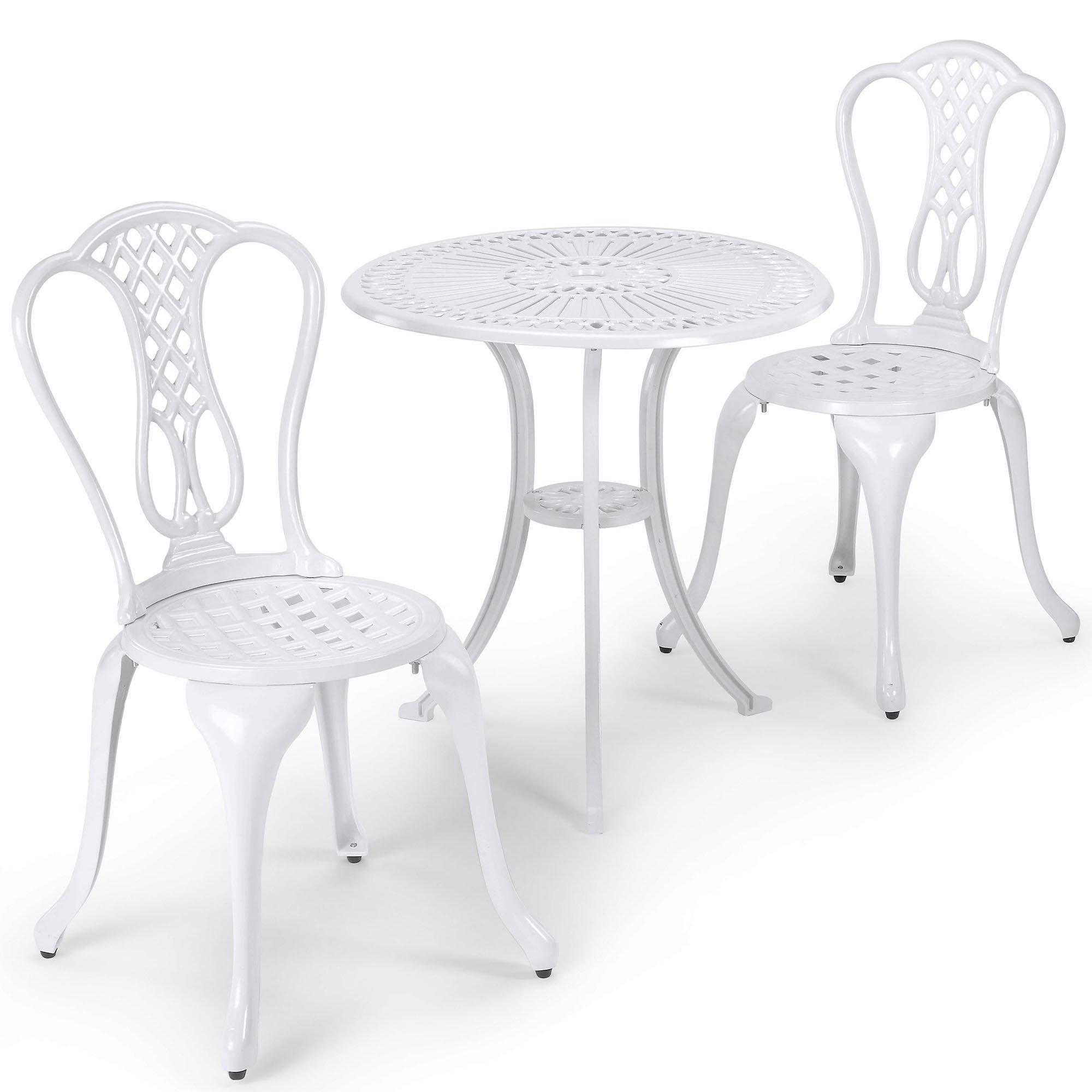 White Bistro Sets: Amazon.co.uk