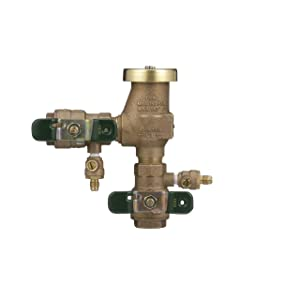 3/4 in Bronze Freeze Resistant Pressure Vacuum Breaker, Quarter Turn Shutoff, Tee Handles