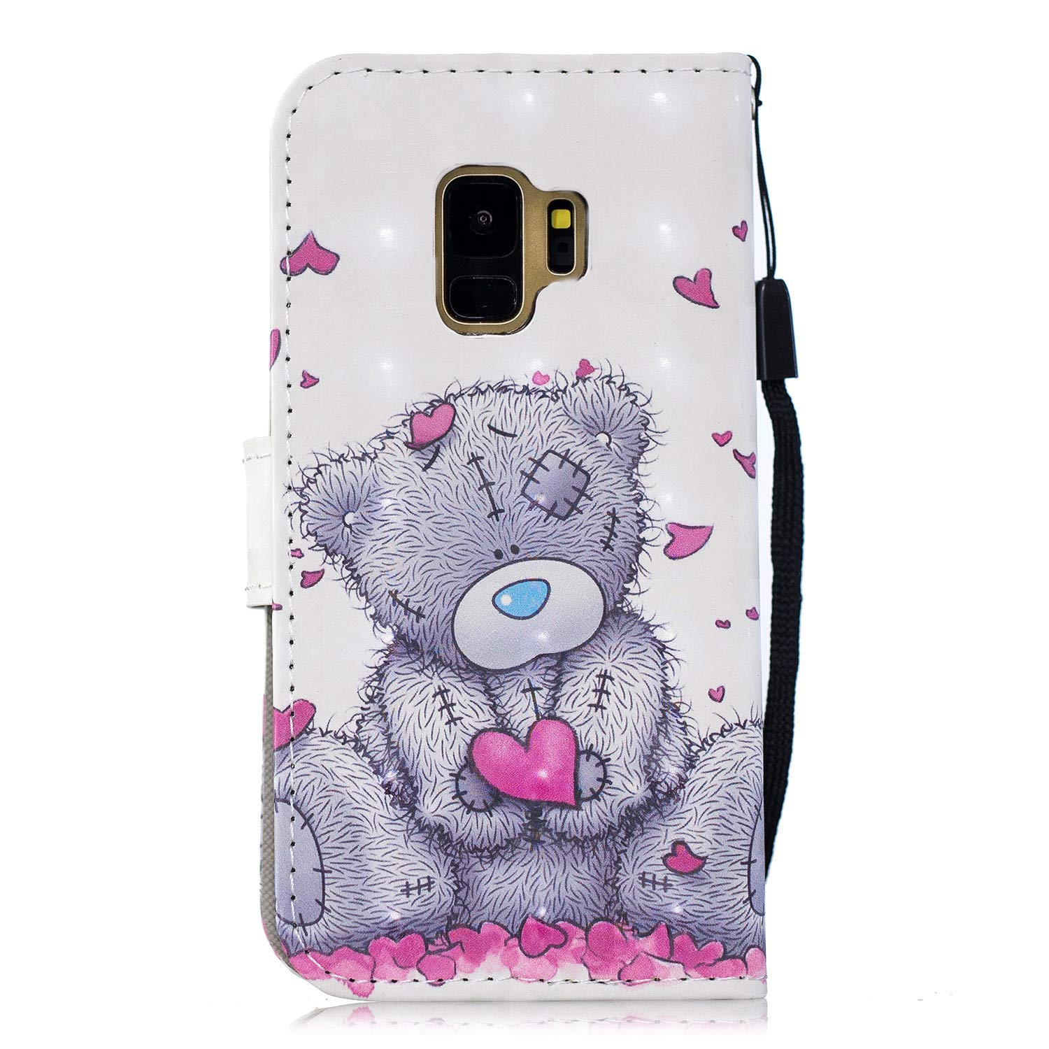 Felfy Case for Galaxy S9 Okssud Samsung Galaxy S9 Leather Flip Magnetic Protective Case