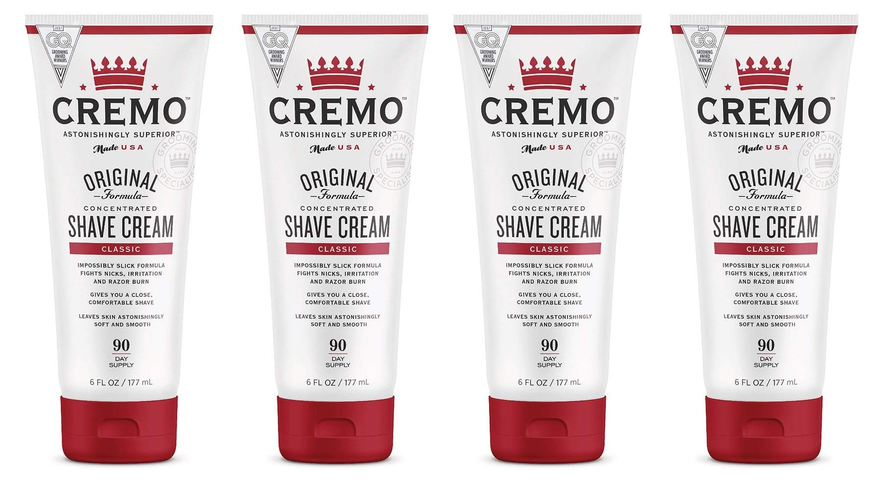 Original Shave Cream, Astonishingly Superior Smooth Shaving Cream Fights Nicks, Cuts and Razor Burn, 6 FL oz, (4 Count, Original)
