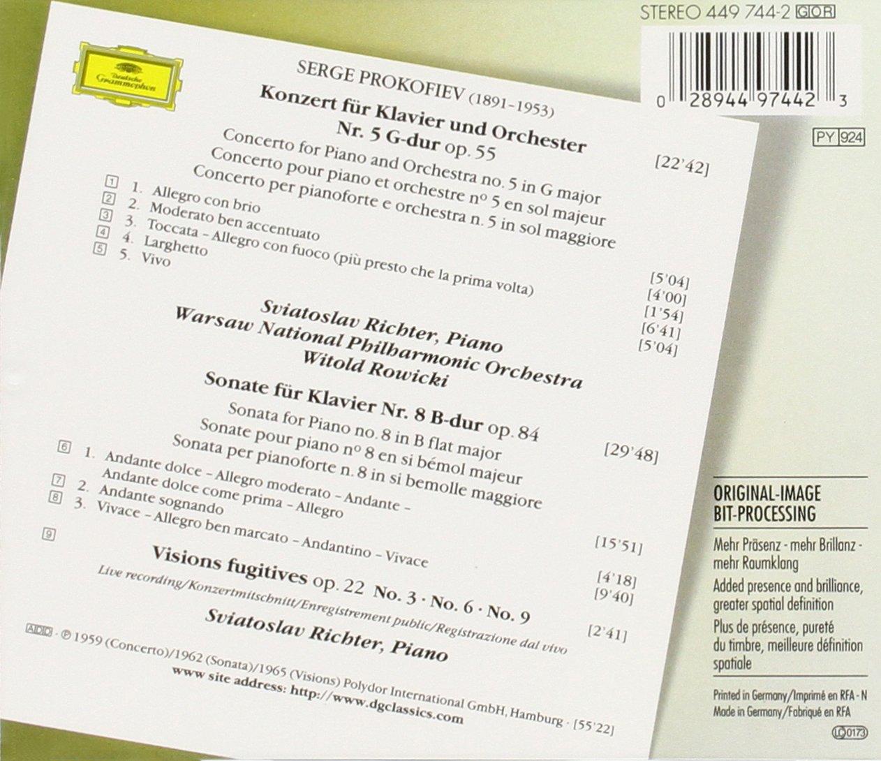 Sergei Prokofiev, Witold Rowicki, Warsaw National Philharmonic ...