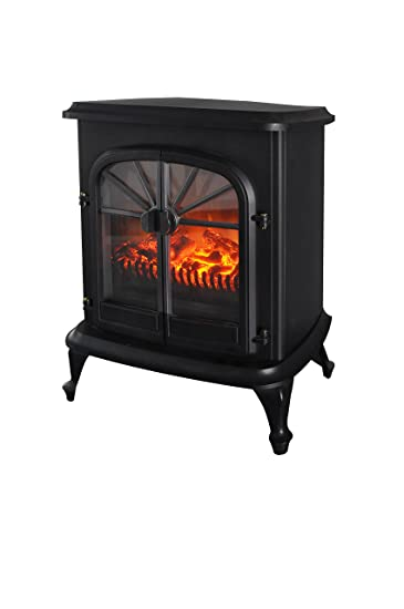500 Watt Electric Fireplace Space Heater: Home & Kitchen