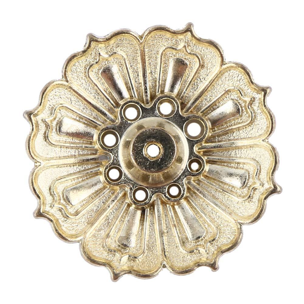 Bruciatore di incenso del fiore di loto della lega dell'annata di 9 fori Bruciatore di incensiere del piatto del profumo di incenso Bruciatore di incenso del loto Vassoio del collettore della cenere d( oro) GLOGLOW