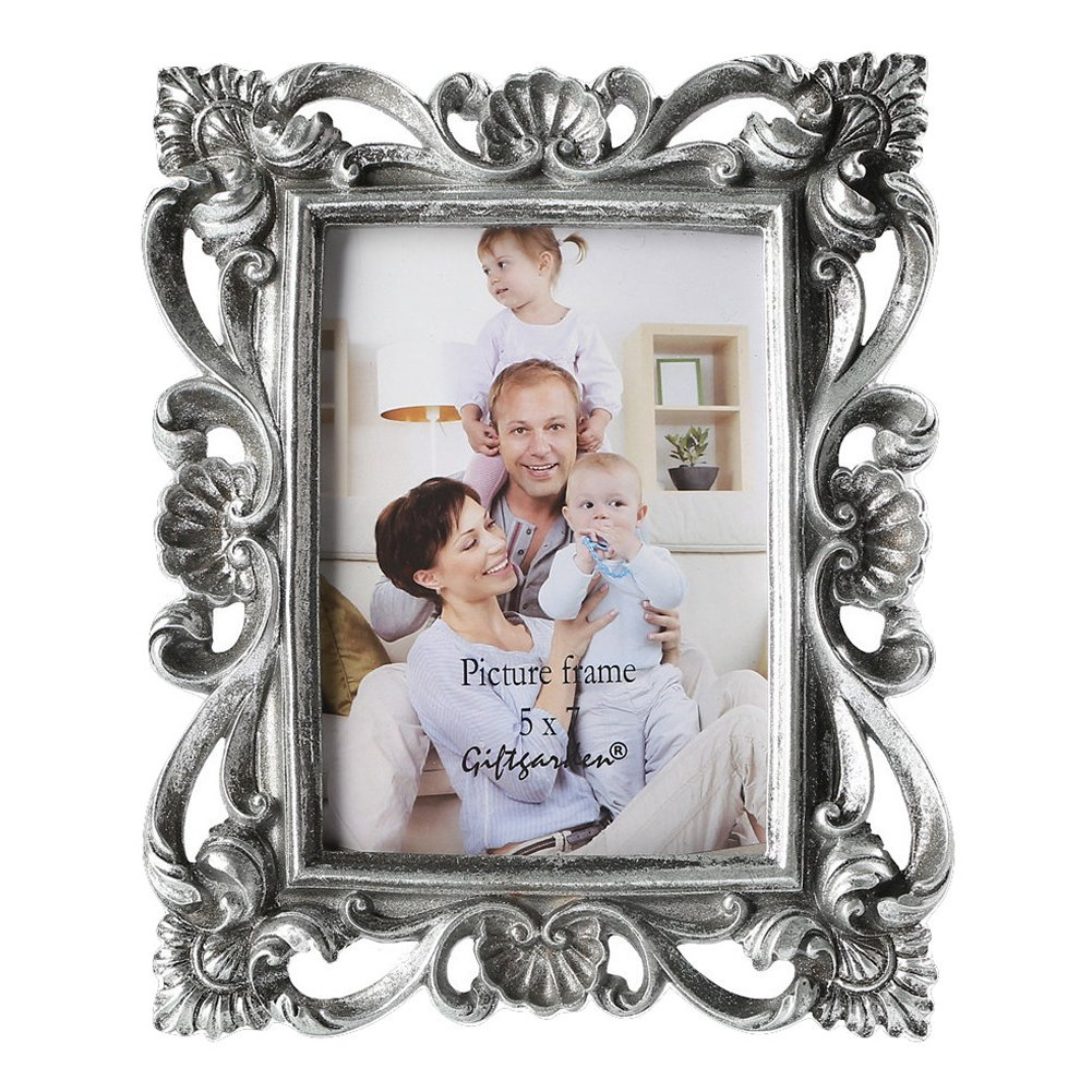 Amazon.de: Giftgarden Bilderrahmen 13x18 Silber Vintage Fotorahmen ...